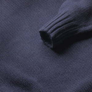 Newman - Lambswool Roll Neck Jumper - Navy