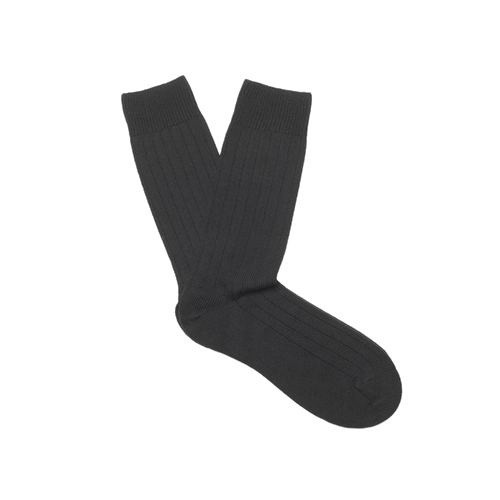 Black Heavy Knit Merino Socks