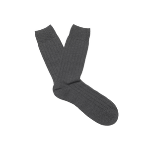 Charcoal Heavy Knit Merino Socks