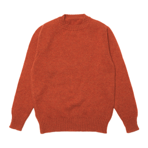 Burnt Orange Dean Lambswool Crew Neck Jumper