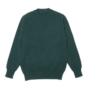 Green Dean Lambswool Crew Neck Jumper