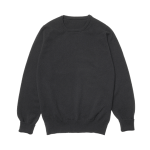 Black Steadman Fine Lambswool Crew Neck