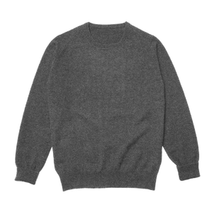 Charcoal Steadman Fine Lambswool Crew Neck