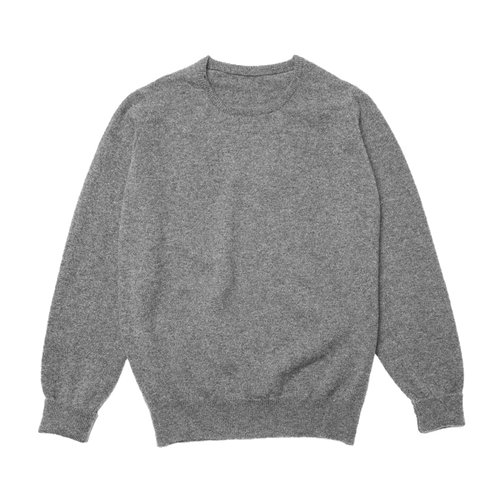 Grey Steadman Fine Lambswool Crew Neck