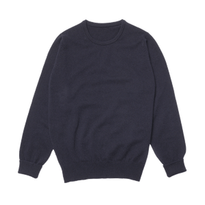 Navy Steadman Fine Lambswool Crew Neck