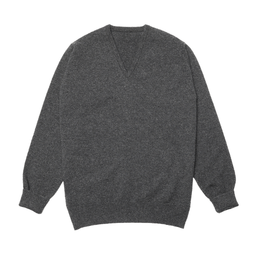 Charcoal Steadman Fine Lambswool V-Neck