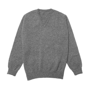 Grey Steadman Fine Lambswool V-Neck
