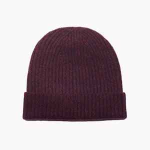 Burgundy Lambswool Hat