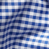 Blue Non-Iron Medium Gingham