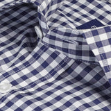 Navy Non-Iron Gingham
