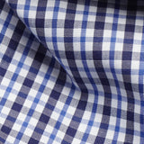 Black/Blue Non-Iron Check