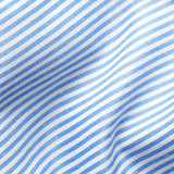 Light Blue Non-Iron Small Stripe