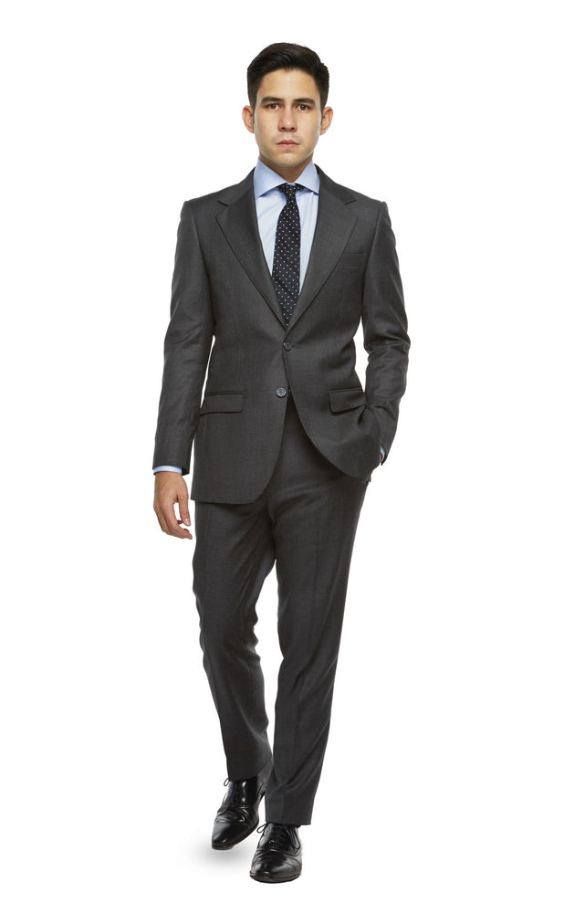 Charcoal Grey Sharksin Suit