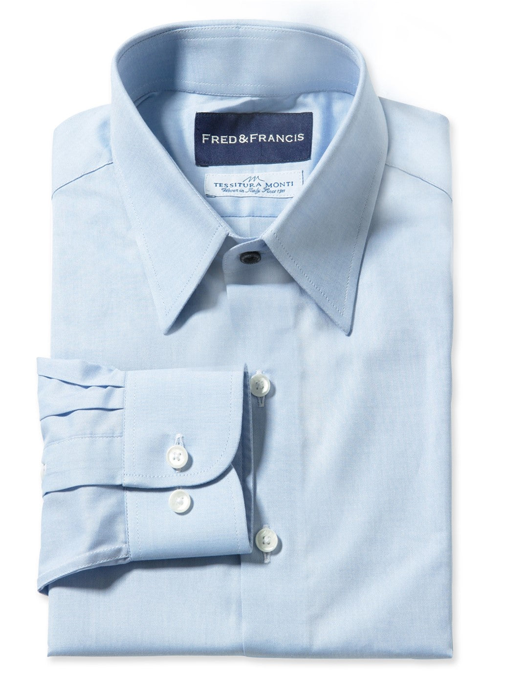 Light Blue Pinpoint Oxford (Italian Cotton)