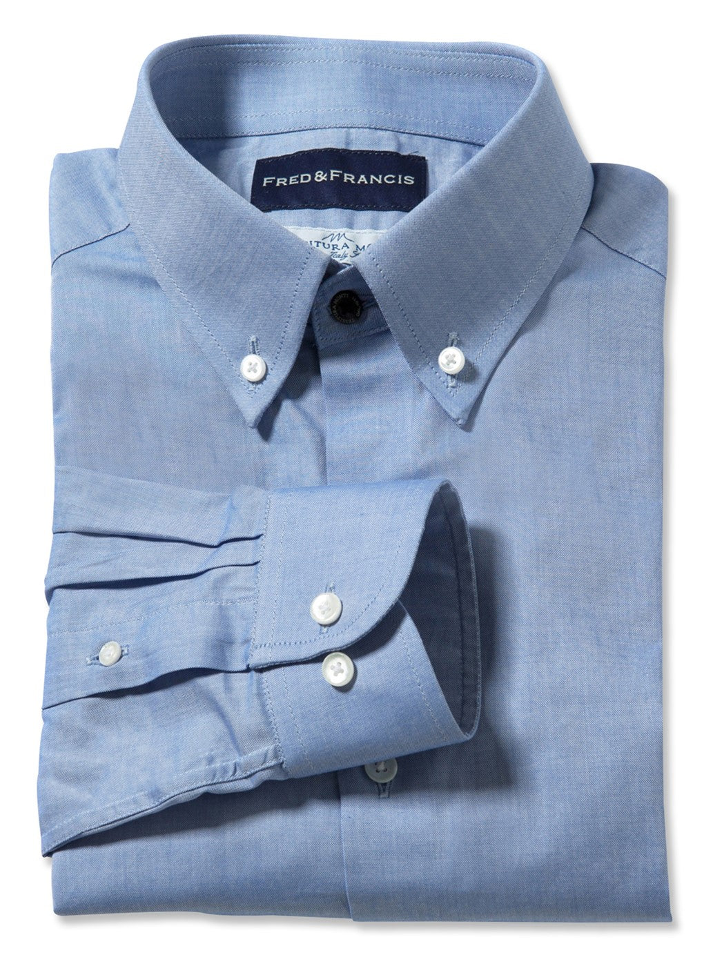 Blue Pinpoint Oxford (Italian Cotton)