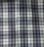 Navy/White Check (Italian Cotton)