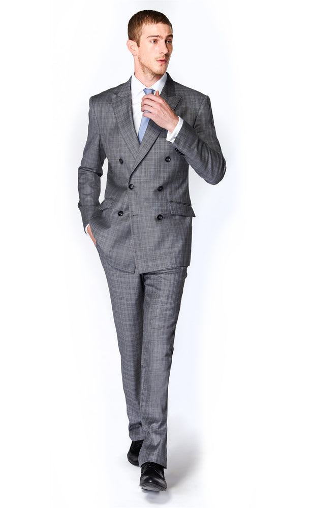 Light Grey Check Suit (Prince of Wales)