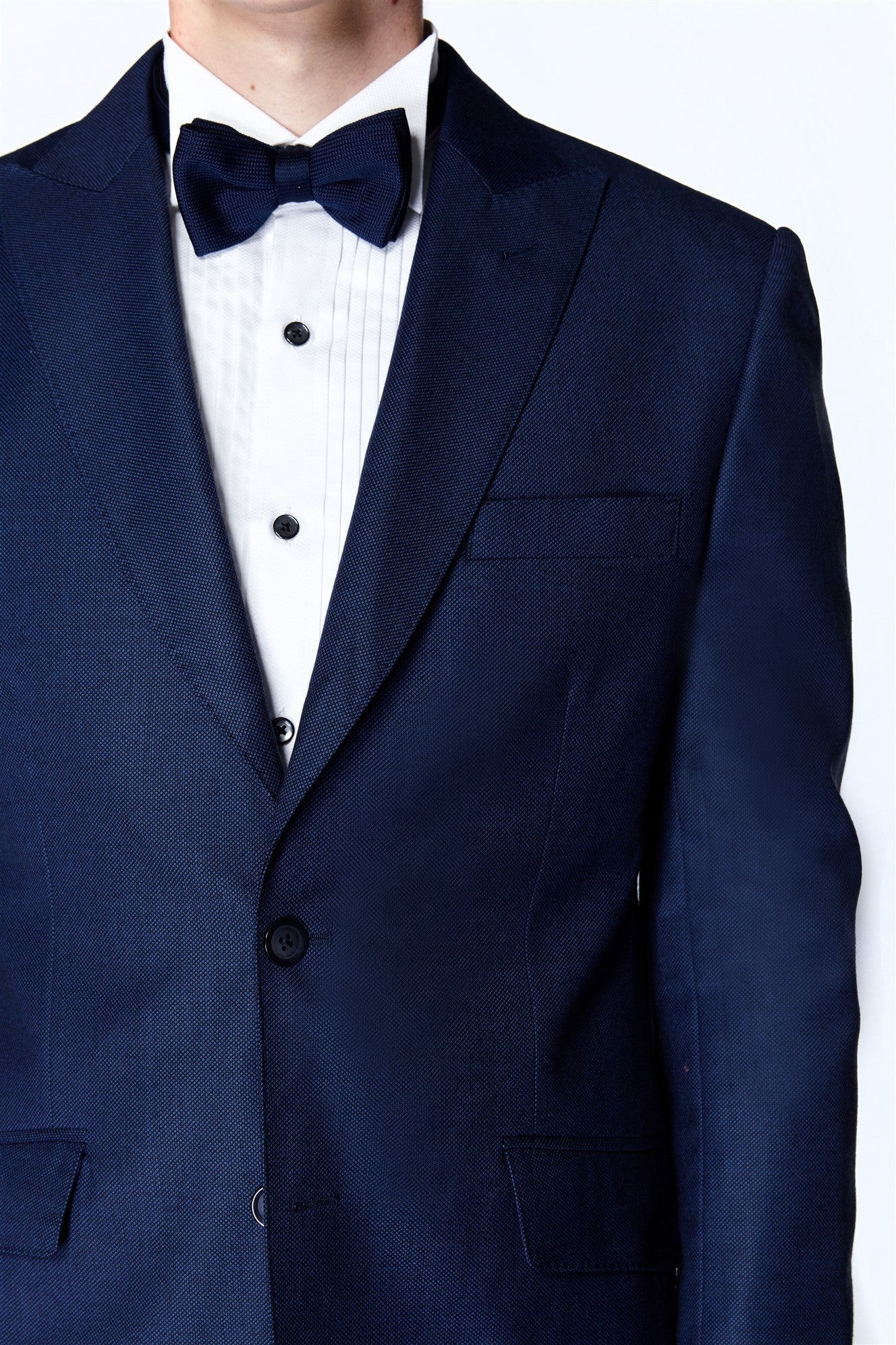 Blue Hopsack Suit (Italian Wool)