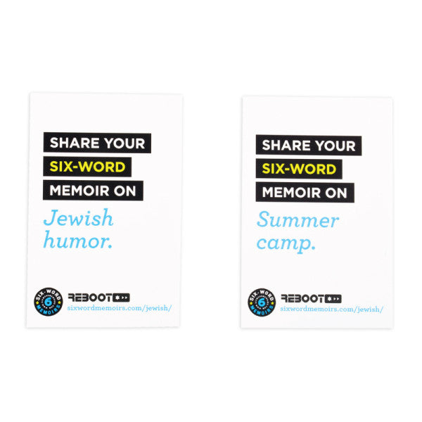 Six-Word Memoirs @ Your Table Cards - Jewish Gifts, Collectibles and Judaica | Reboot Shop