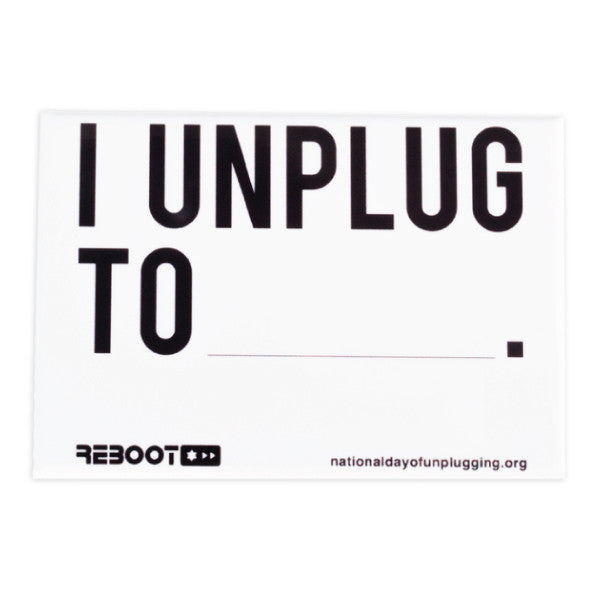 """I Unplug To"" Magnet - Jewish Gifts, Collectibles and Judaica 
