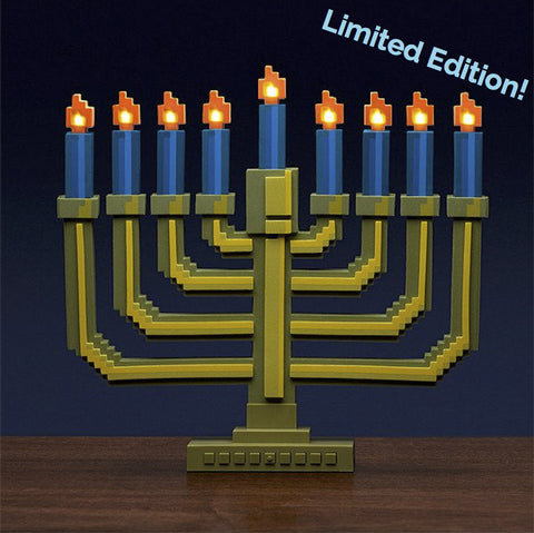 8-Bit Light-Up Menorah from ThinkGeek - Jewish Gifts, Collectibles and Judaica | Reboot Shop