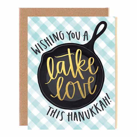 Latke Love Hanukkah Card Set from OneCanoeTwo