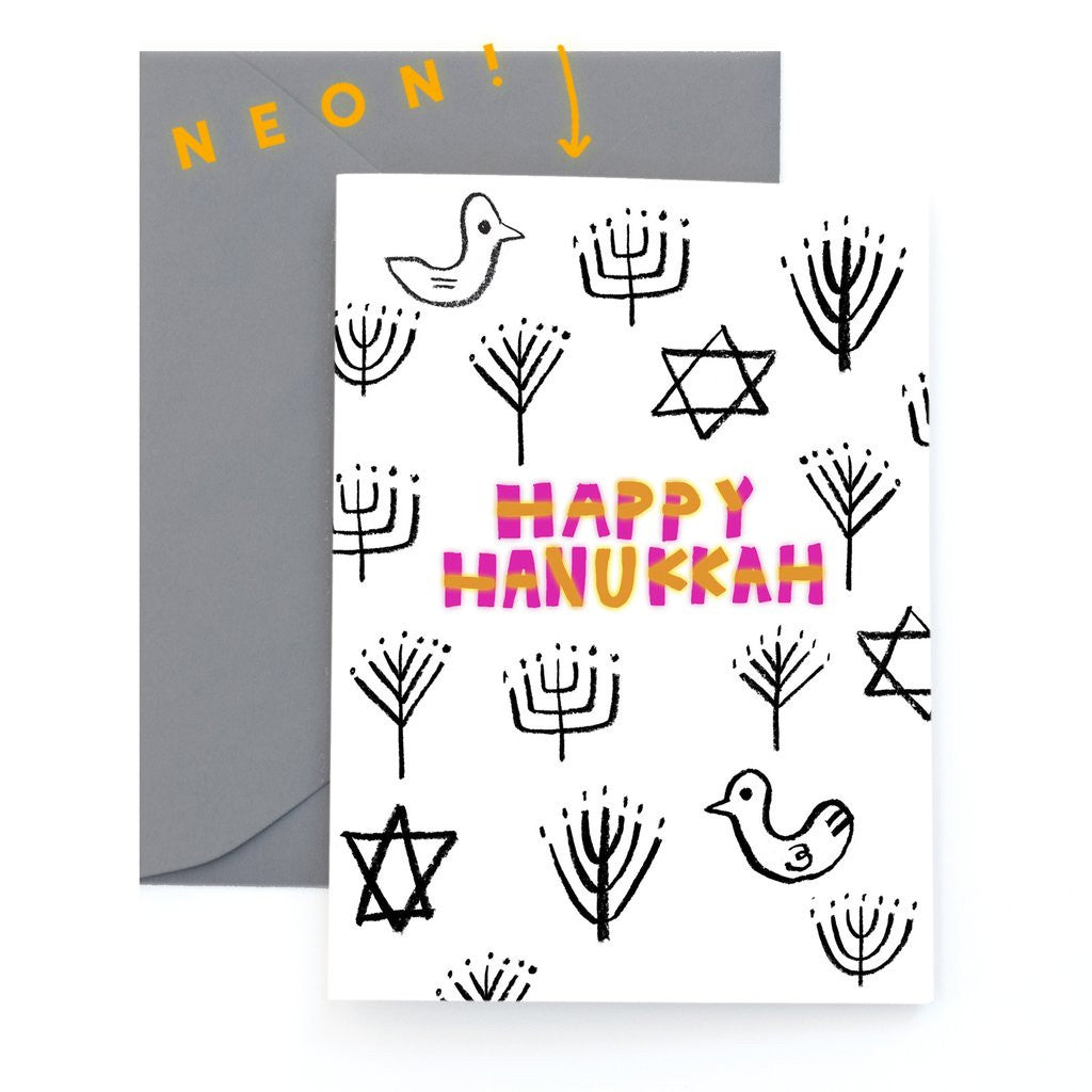 Happy Hanukkah Card Set from Carolyn Suzuki - Jewish Gifts, Collectibles and Judaica | Reboot Shop