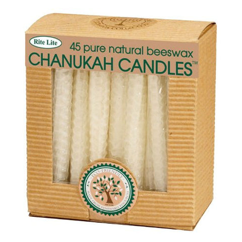 Natural Honeycomb Beeswax Hanukkah Candles from Rite Lite