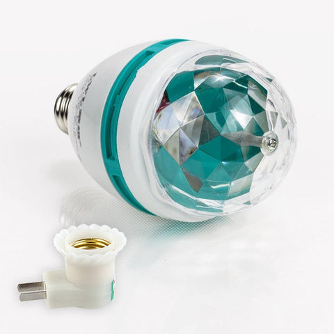 Holiday Colors Rotating Disco Light Bulb - Jewish Gifts, Collectibles and Judaica | Reboot Shop