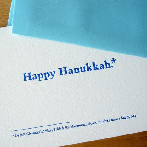 """Or Is It Chanukah? Wait, I Think It's Hannukah"" Stationary Set from Old Tom Foolery - Jewish Gifts, Collectibles and Judaica 