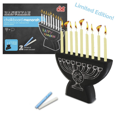 Chalkboard Menorah/Shabbat Candle Holder from DCI Gifts - Jewish Gifts, Collectibles and Judaica | Reboot Shop