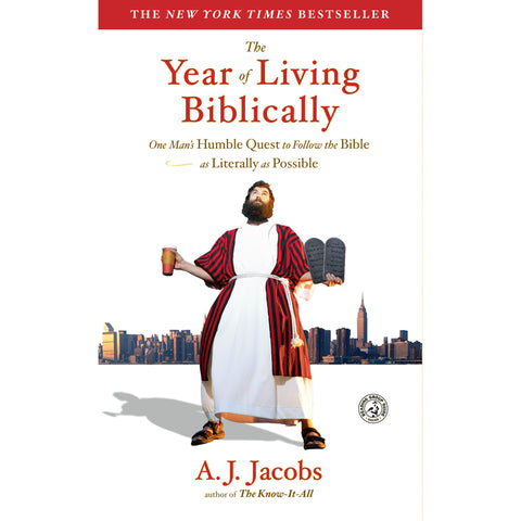 The Year of Living Biblically: One Man's Humble Quest to Follow the Bible as Literally as Possible by A.J. Jacobs - Jewish Gifts, Collectibles and Judaica | Reboot Shop