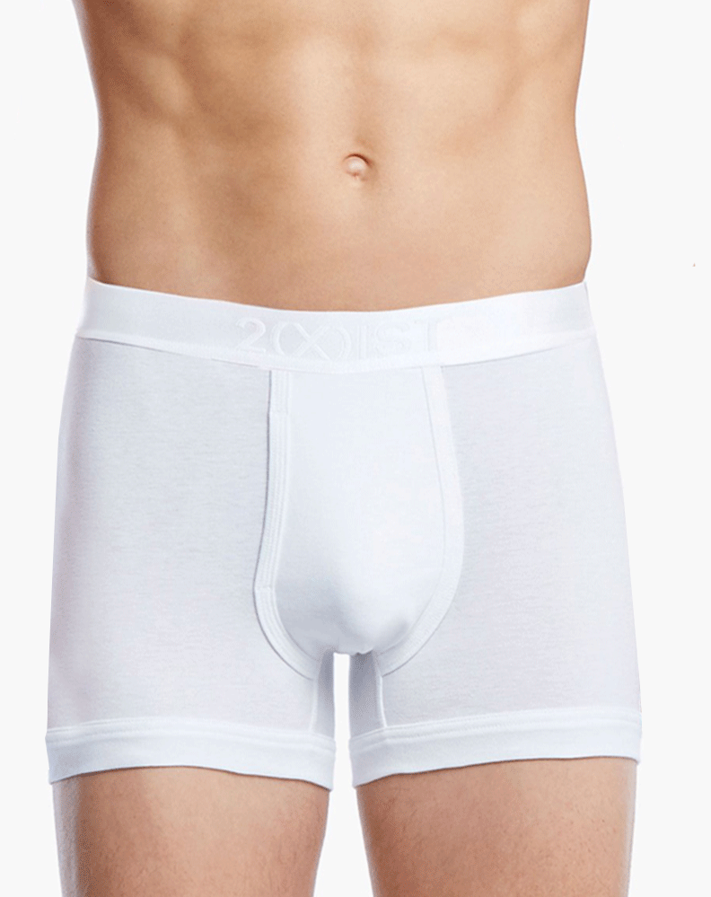 2(X)IST 3104100401 Pima Cotton Boxer Briefs 101nl-white