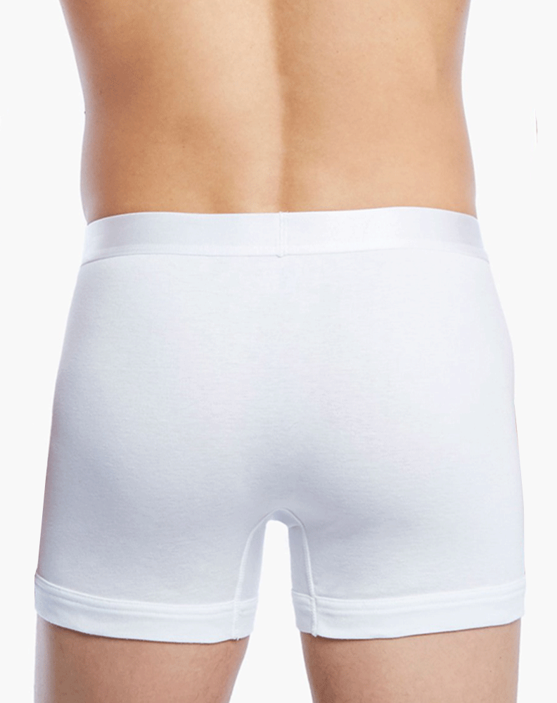 2(X)IST 3104100401 Pima Cotton Boxer Briefs 101nl-white - StevenEven.com