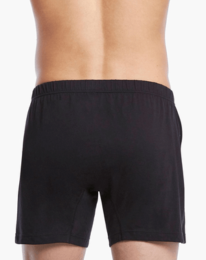 2(X)IST 3104100701 Pima Cotton Knit Boxer 004nl-black