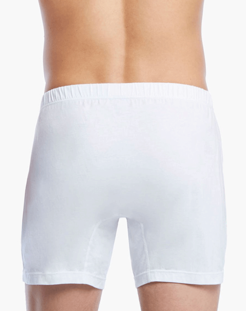 2(X)IST 3104100701 Pima Cotton Knit Boxer 101nl-white - StevenEven.com