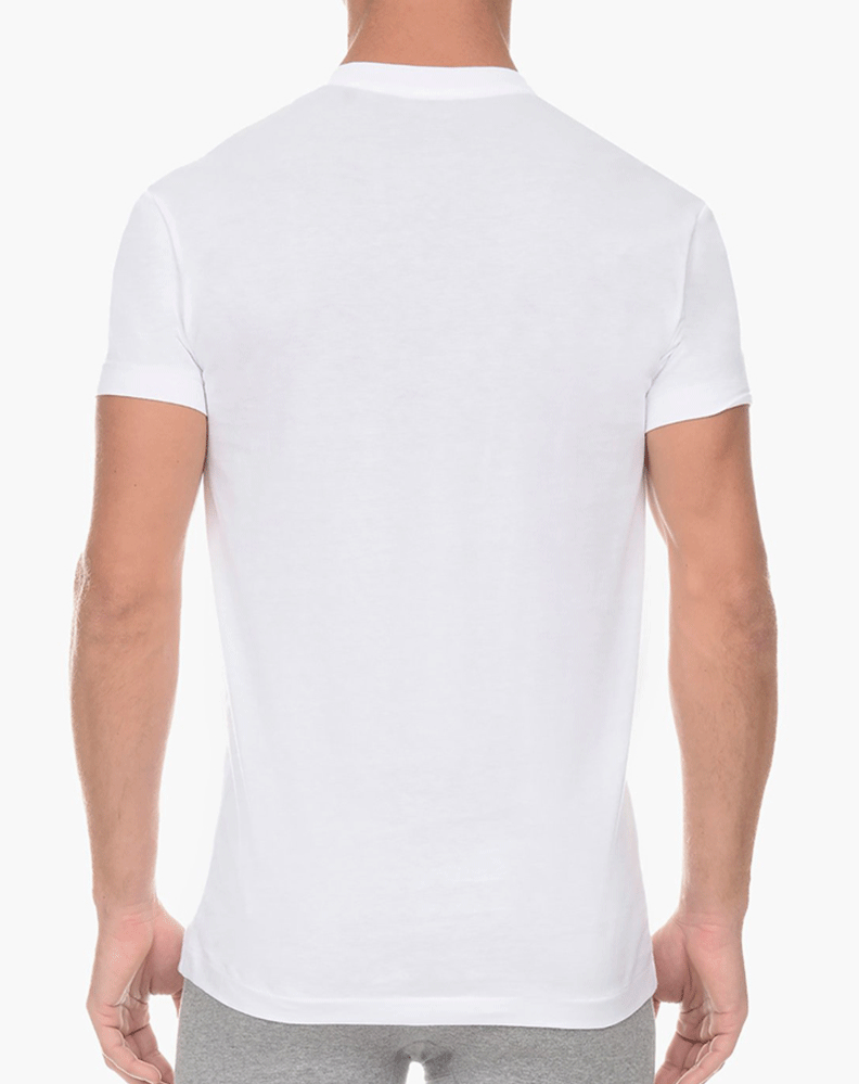 2(X)IST 3104101001 Pima Cotton V-neck T-shirt 10001-white - StevenEven.com