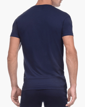 2(X)IST 3104104101 Pima Cotton Slim Fit Deep V-neck T-shirt 48007-navy