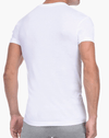2(X)IST 3104104101 Pima Cotton Slim Fit Deep V-neck T-shirt 10001-white