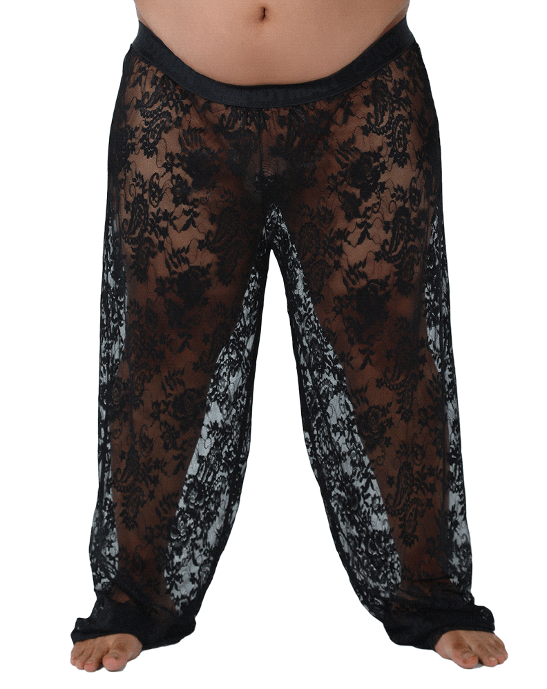 Candyman 99234x Lace Lounge Pants Black