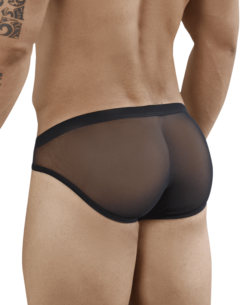 Clever 5382 Lily Piping Briefs Black - StevenEven.com