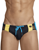 Clever 0696 Galba Swim Briefs Black - StevenEven.com