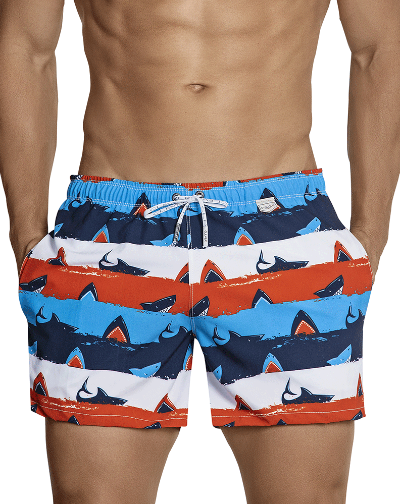 Clever 0698 Macrino Swim Trunks Red