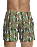Clever 0699 Emiliano Swim Trunks Green - StevenEven.com