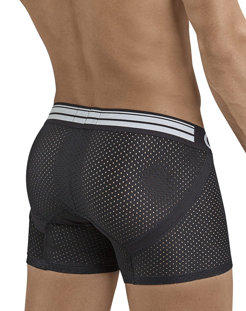 Clever 2397 Fancy Boxer Briefs Black - StevenEven.com