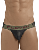 Clever 5024 Blunder Piping Briefs Black - StevenEven.com