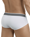 Clever 5387 Sophisticated Piping Briefs White - StevenEven.com