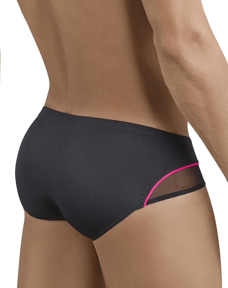 Clever 5388 Plush Latin Briefs Black - StevenEven.com