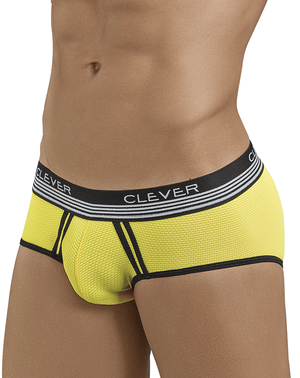 Clever 5398 Lovely Piping Briefs Yellow - StevenEven.com