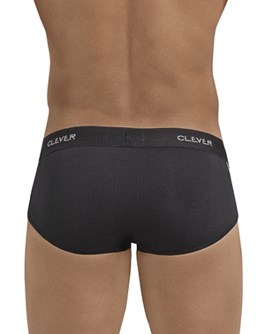 Clever 5399 Stunning Piping Briefs Black - StevenEven.com